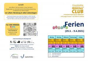 2021 Programm Osterferien tivolotte Mädchen_club AUßEN