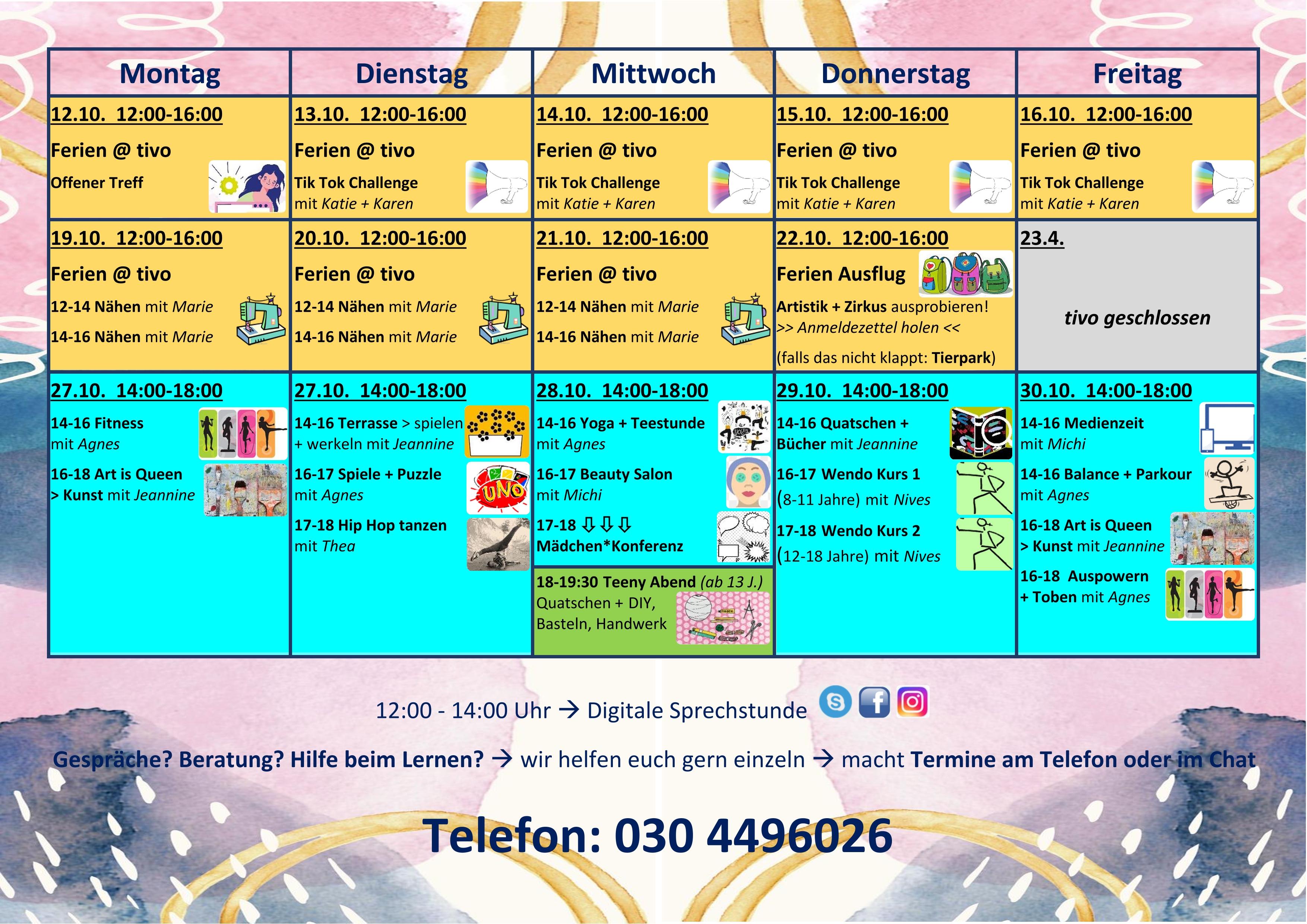 Oktober Programm Web